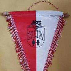 Coleccionismo deportivo: ANTIGUO BANDERIN - JSG OBERG/MUNSTEDT. Lote 115144511