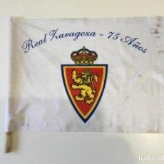 Coleccionismo deportivo: BANDERA REAL ZARAGOZA 2007 75 ANIVERSARIO TUZSA BUS 40 X 50 ... ZKR. Lote 115747939