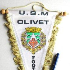 Coleccionismo deportivo: BANDERIN PENNANT USM OLIVET FOOTBALL DE FRANCIA FRANCE 26 X 16 CM FANION. Lote 116061935