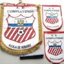 Coleccionismo deportivo: 3 BANDERIN PENNANT AD COMPLUTENSE UNIVERSIDAD ALCALA DE HENARES MADRID 35 X 27. Lote 116065731
