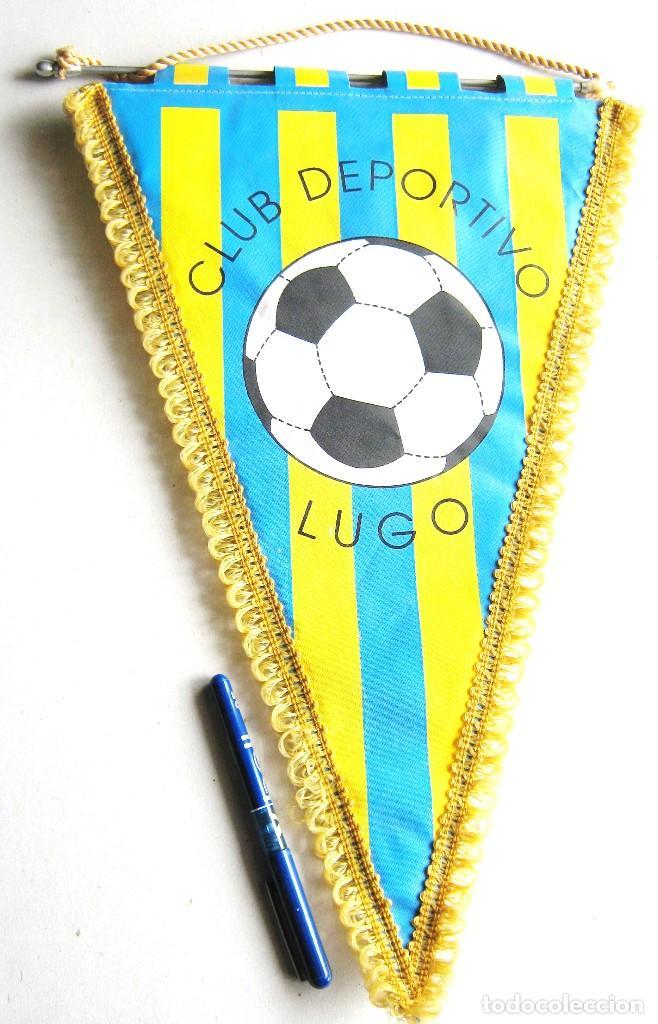 BANDERIN PENNANT CLUB DEPORTIVO LUGO FUENLABRADA FUTBOL CF 45 X 29 CM MADRID (Coleccionismo Deportivo - Banderas y Banderines de Fútbol)