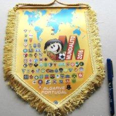Coleccionismo deportivo: BANDERIN PENNANT MUNDIALITO CLUBS ALGARVE PORTUGAL 2016 OFICIAL GRANDE 31 X 23. Lote 116069283