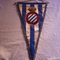 Coleccionismo deportivo: BANDERIN REAL CLUB DEPORTIVO ESPAÑOL . 48 CM. BARILLA DE ALUMINIO. Lote 116816407