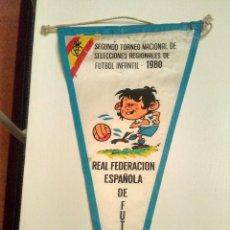 Collectionnisme sportif: BANDERIN DEL II TORNEO NACIONAL DE SELECCIONES INFANTILES 1980. Lote 118023091