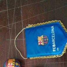 Coleccionismo deportivo: LOTE F. C. BARCELONA * BANDERIN + CORAZÓN DE PIEDRAS + PELOTA *. Lote 119679823