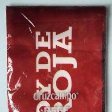 Coleccionismo deportivo: BUFANDA BANDERA SOY DE LA ROJA PROMOCION CRUZCAMPO. Lote 120899575