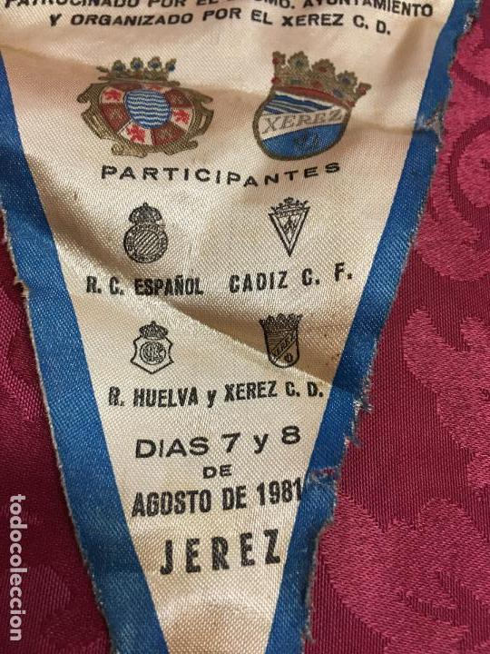 Coleccionismo deportivo: BANDERIN II TROFEO FUTBOL DE LA VENDIMIA DE JEREZ AÑO 1981 - XEREZ - CADIZ - HUELVA - ESPAÑOL - Foto 6 - 121809843