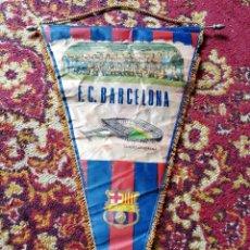 Coleccionismo deportivo: ANTIGUO BANDERÍN F.C.BARCELONA TEMPORADA 1973-74- CAMPEÓN LIGA, 0-5(R.MADRID), GRAN FORMATO 53X37CM. Lote 122101647