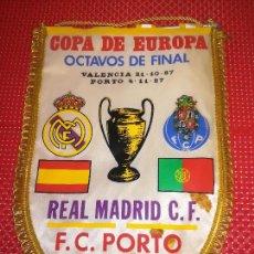 Coleccionismo deportivo: REAL MADRID - COPA DE EUROPA - OCTAVOS DE FINAL - PORTO, C. F. - EN VALENCIA. Lote 122144063