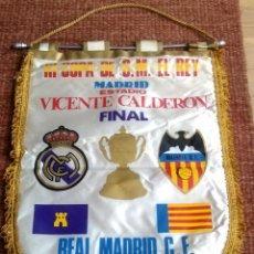 Coleccionismo deportivo: BANDERIN FINAL DE LA COPA DEL REY 1979 - REAL MADRID - VALENCIA, C.F. - VICENTE CALDERON. Lote 122269219