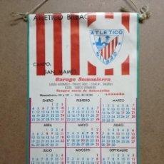 Coleccionismo deportivo: ANTIGUO CALENDARIO - BANDERIN DE FUTBOL DEL ATHLETIC CLUB DE BILBAO, AÑO 1971.GARAGE DE LOGROÑO. Lote 122763587