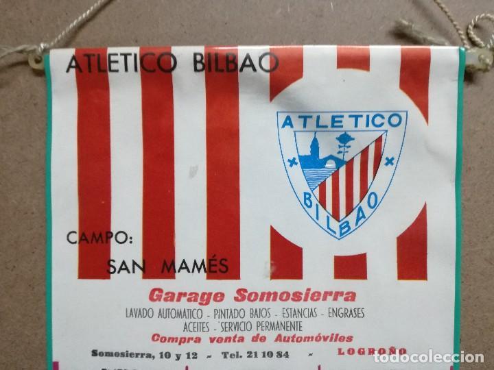 Coleccionismo deportivo: ANTIGUO CALENDARIO - BANDERIN DE FUTBOL DEL ATHLETIC CLUB DE BILBAO, AÑO 1971.GARAGE DE LOGROÑO - Foto 2 - 122763587