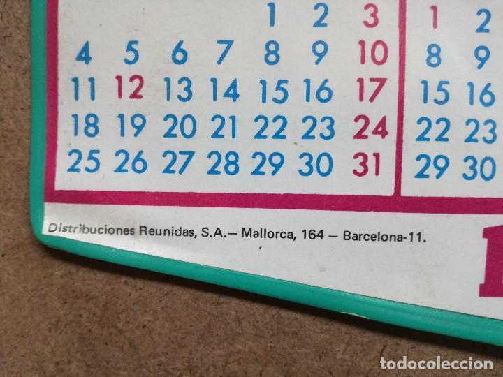 Coleccionismo deportivo: ANTIGUO CALENDARIO - BANDERIN DE FUTBOL DEL ATHLETIC CLUB DE BILBAO, AÑO 1971.GARAGE DE LOGROÑO - Foto 4 - 122763587