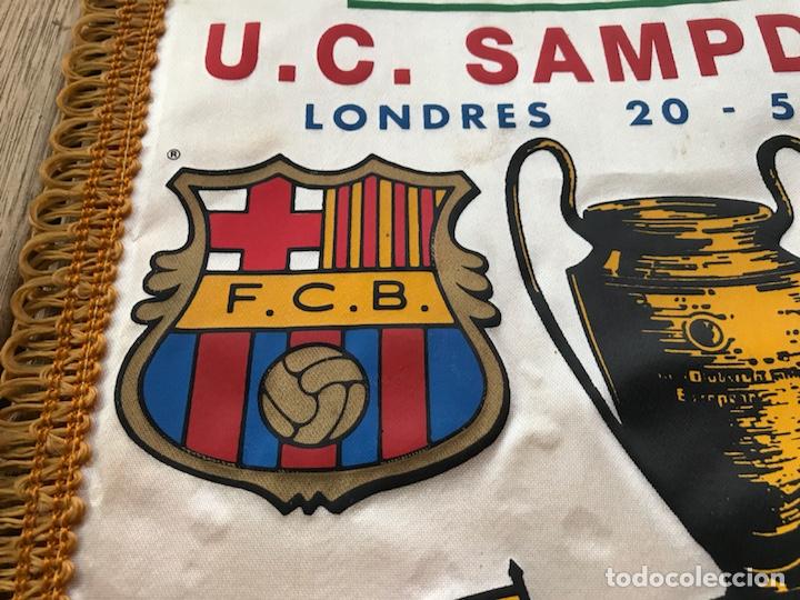 Coleccionismo deportivo: Banderín Barcelona COPA DE EUROPA WEMBLEY LONDRES 1992 SAMPDORIA - Foto 2 - 124458207