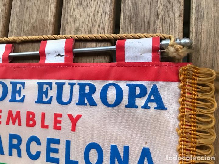 Coleccionismo deportivo: Banderín Barcelona COPA DE EUROPA WEMBLEY LONDRES 1992 SAMPDORIA - Foto 3 - 124458207