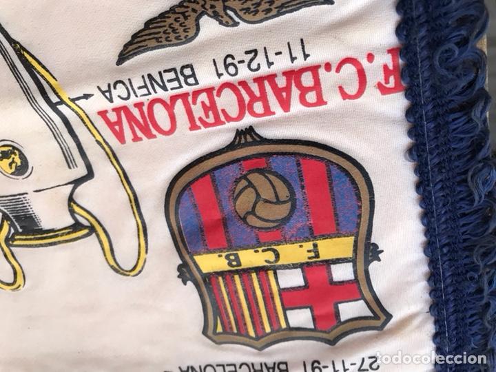 Coleccionismo deportivo: Banderín copa de europa barcelona sparta benfica dynamo de kiev 1991 1992 - Foto 2 - 124459580