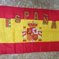 Coleccionismo deportivo: 138X86 CM GRAN ANTIGUA BANDERA SELECCION ESPAÑOLA FUTBOL ESPAÑA , MUNDIALES ... TELA COLGADURA. Lote 125034483
