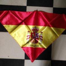 Coleccionismo deportivo: 81X48 CM GRAN ANTIGUA BANDERA PICO SELECCION ESPAÑOLA FUTBOL ESPAÑA , MUNDIALES ... PARA EL CUELLO. Lote 125036691