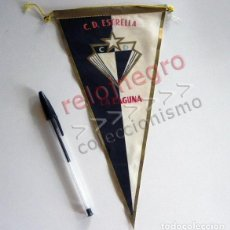Coleccionismo deportivo: ANTIGUO BANDERÍN DEL CLUB DEPORTIVO ESTRELLA DE LA LAGUNA TENERIFE CANARIAS ESPAÑA - DEPORTE FÚTBOL. Lote 126068663
