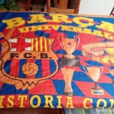 Coleccionismo deportivo: BANDERA DEL BARCELONA, BARCA UNIVERSAL. ( LA HISTORIA CONTINUA ). Lote 126325667