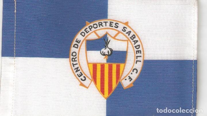 10 BANDERITAS 15X10 CENTRO DE DEPORTES SABADELL C.F. (Coleccionismo Deportivo - Banderas y Banderines de Fútbol)