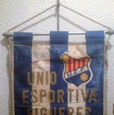 Collezionismo sportivo: ANTIGUO BANDERIN AÑOS 20/30 U.E.F UNIO ESPORTIVA FIGUERES MIDE 36 X 45 CMTS. Lote 126533711