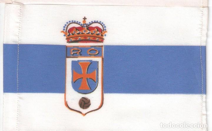 10 BANDERITAS 15X10 CLUB DE FUTBOL REAL OVIEDO (Coleccionismo Deportivo - Banderas y Banderines de Fútbol)