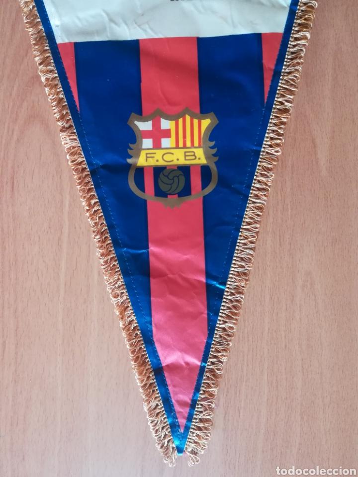 Coleccionismo deportivo: Banderin grande FC Barcelona Estadio Camp Nou Pequeño historial - Cruyff - fútbol Barça culé - Foto 3 - 128142104