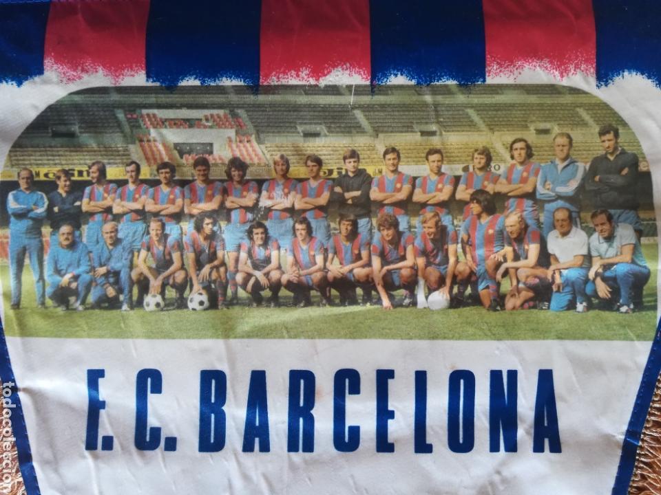 Coleccionismo deportivo: Banderin grande FC Barcelona Estadio Camp Nou Pequeño historial - Cruyff - fútbol Barça culé - Foto 4 - 128142104