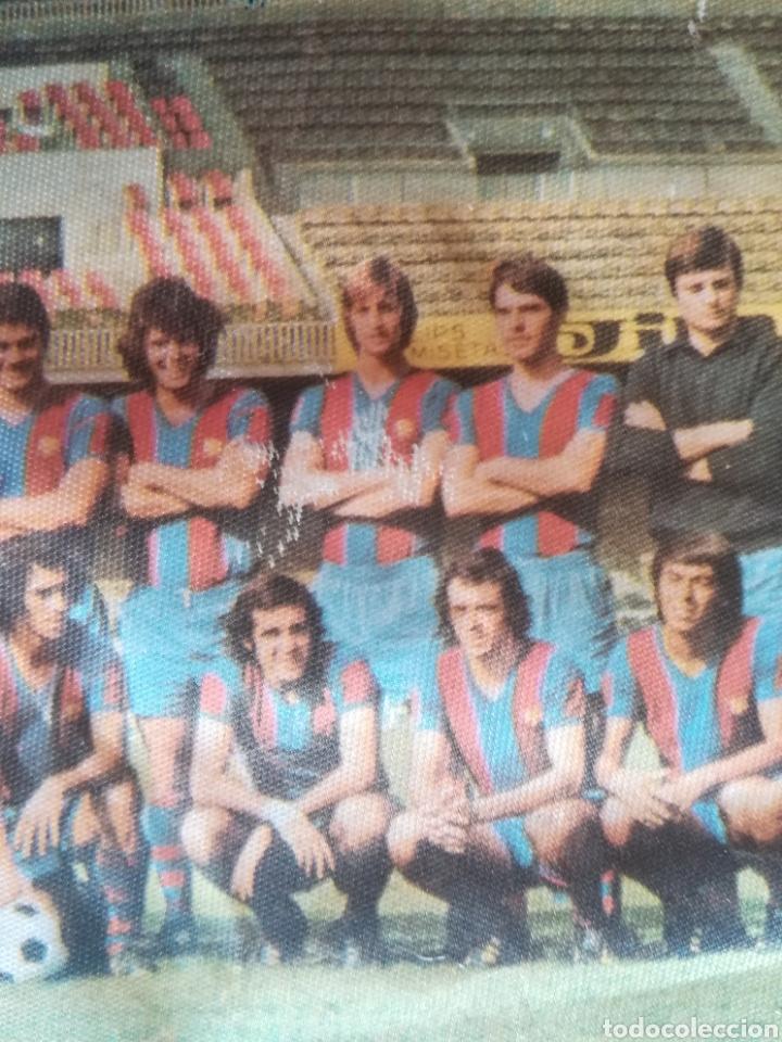 Coleccionismo deportivo: Banderin grande FC Barcelona Estadio Camp Nou Pequeño historial - Cruyff - fútbol Barça culé - Foto 5 - 128142104