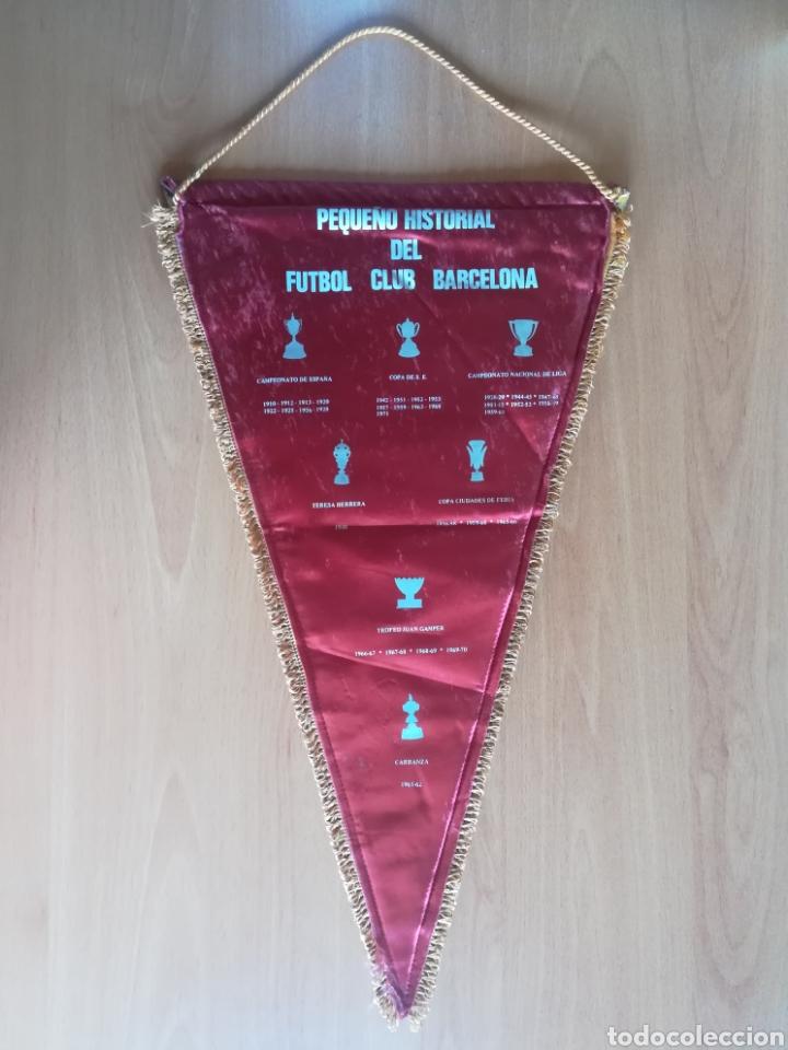 Coleccionismo deportivo: Banderin grande FC Barcelona Estadio Camp Nou Pequeño historial - Cruyff - fútbol Barça culé - Foto 9 - 128142104