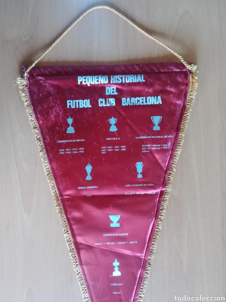 Coleccionismo deportivo: Banderin grande FC Barcelona Estadio Camp Nou Pequeño historial - Cruyff - fútbol Barça culé - Foto 10 - 128142104