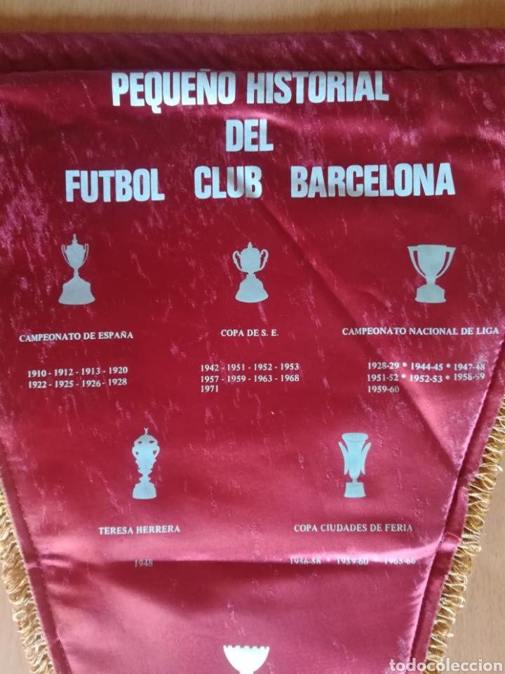 Coleccionismo deportivo: Banderin grande FC Barcelona Estadio Camp Nou Pequeño historial - Cruyff - fútbol Barça culé - Foto 11 - 128142104
