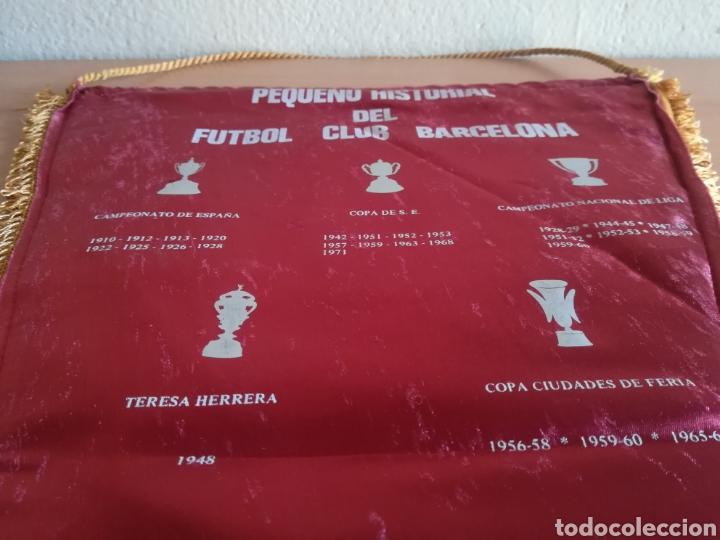 Coleccionismo deportivo: Banderin grande FC Barcelona Estadio Camp Nou Pequeño historial - Cruyff - fútbol Barça culé - Foto 15 - 128142104