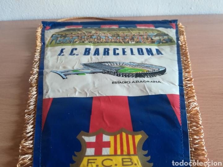 Coleccionismo deportivo: Banderin grande FC Barcelona Estadio Camp Nou Pequeño historial - Cruyff - fútbol Barça culé - Foto 17 - 128142104