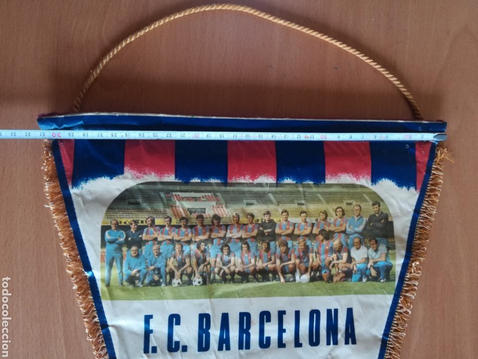 Coleccionismo deportivo: Banderin grande FC Barcelona Estadio Camp Nou Pequeño historial - Cruyff - fútbol Barça culé - Foto 18 - 128142104