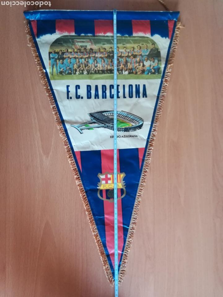 Coleccionismo deportivo: Banderin grande FC Barcelona Estadio Camp Nou Pequeño historial - Cruyff - fútbol Barça culé - Foto 19 - 128142104