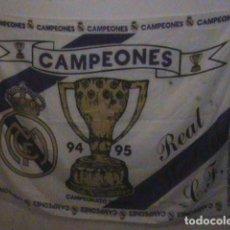 Coleccionismo deportivo: BANDERA DEL REAL MADRID, CAMPEONES 94/95. Lote 129332687
