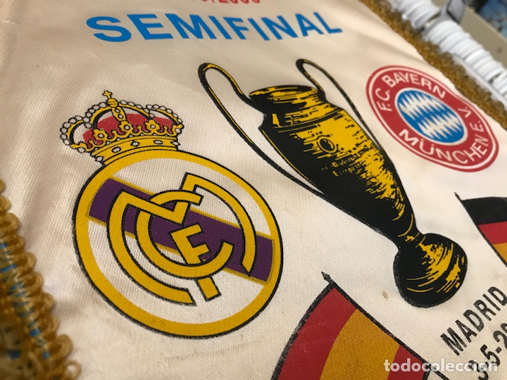 Coleccionismo deportivo: Banderín champions league semifinal 1999 2000 Real madrid club de futbol Bayern - Foto 2 - 130233323