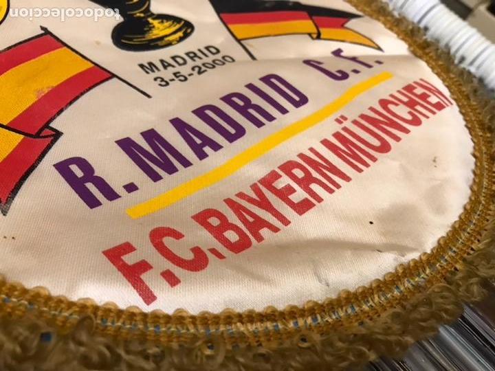 Coleccionismo deportivo: Banderín champions league semifinal 1999 2000 Real madrid club de futbol Bayern - Foto 3 - 130233323
