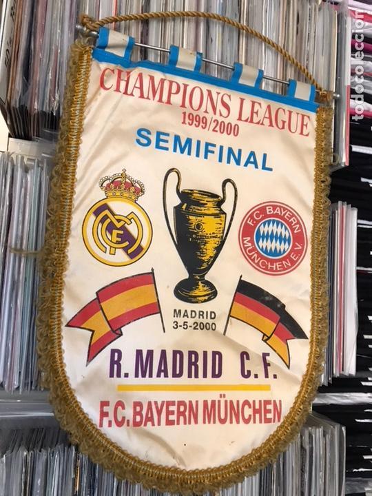 Coleccionismo deportivo: Banderín champions league semifinal 1999 2000 Real madrid club de futbol Bayern - Foto 4 - 130233323