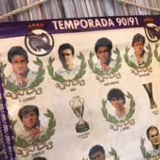 Coleccionismo deportivo: ANTIGUO BANDERIN REAL MADRID CLUB DE FUTBOL TEMPORADA 1991. Lote 130235554