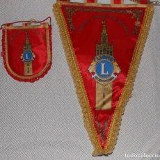 Coleccionismo deportivo: PAREJA DE BANDERINES DEL CLUB DE LEONES DE SEVILLA. Lote 130303486