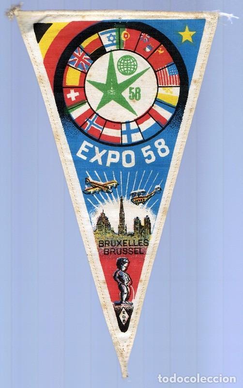 BANDERIN EXPO 58 BRUSELAS (Coleccionismo Deportivo - Banderas y Banderines de Fútbol)