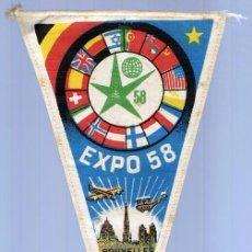 Coleccionismo deportivo: BANDERIN EXPO 58 BRUSELAS . Lote 130488930