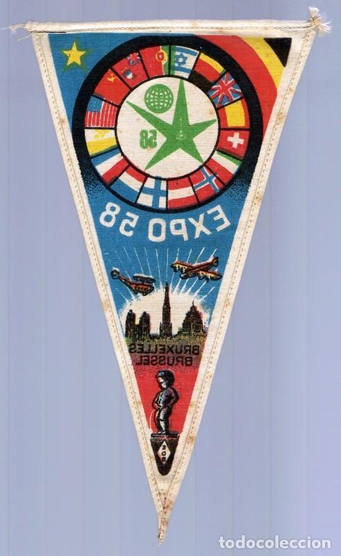 Coleccionismo deportivo: BANDERIN EXPO 58 BRUSELAS - Foto 2 - 130488930
