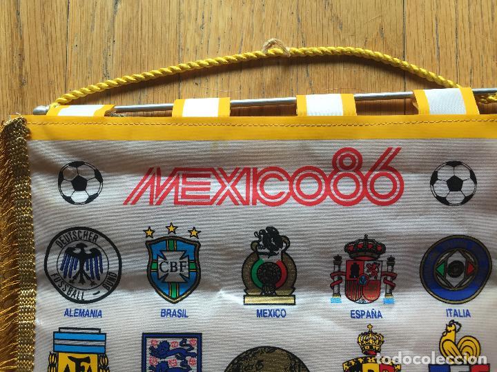 Coleccionismo deportivo: BANDERIN ORIGINAL MEXICO 86 Con escudos de todas las selecciones - Foto 2 - 130978312
