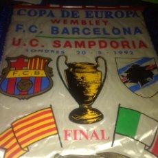 Coleccionismo deportivo: BANDERIN FC BARCELONA. FINAL COPA EUROPA WEMBLEY 92. Lote 131194500