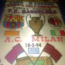 Coleccionismo deportivo: BANDERIN FC BARCELONA FINAL COPA EUROPA ATENAS 94. Lote 131194540