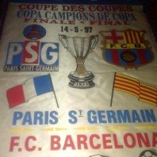 Coleccionismo deportivo: BANDERIN FC BARCELONA. FINAL RECOPA EUROPA 97. Lote 131194708